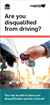 Are you disqualified from driving? Brochure