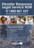 Disaster Response Legal Service NSW A2 Poster